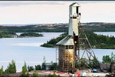 Gunnar headframe during demolition